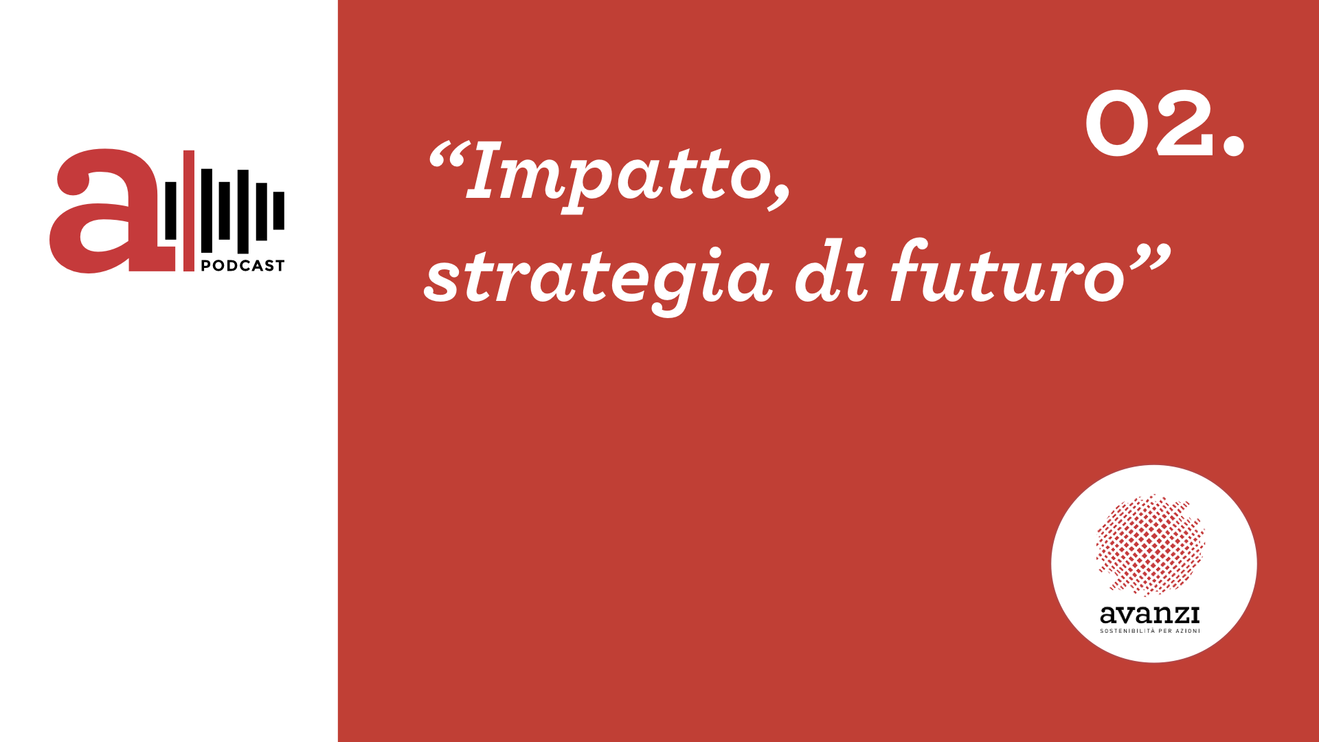 a|podcast. Secondo episodio: Impatto come strategia di futuro